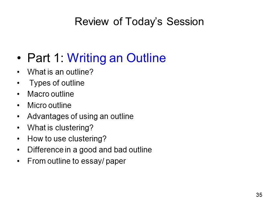 a good essay outline