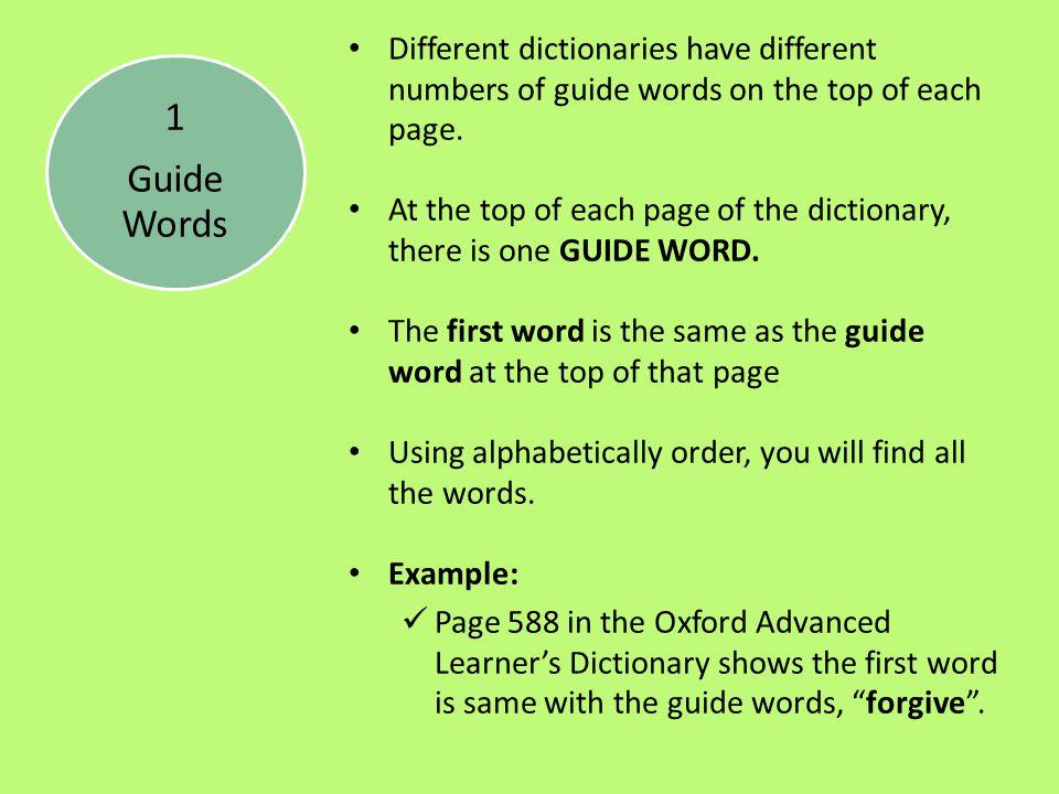 Dictionary Skills - Super Teacher Worksheets