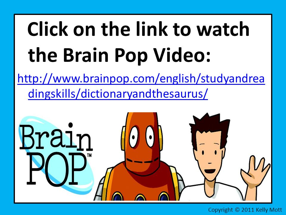 Click on the link to watch the Brain Pop Video: