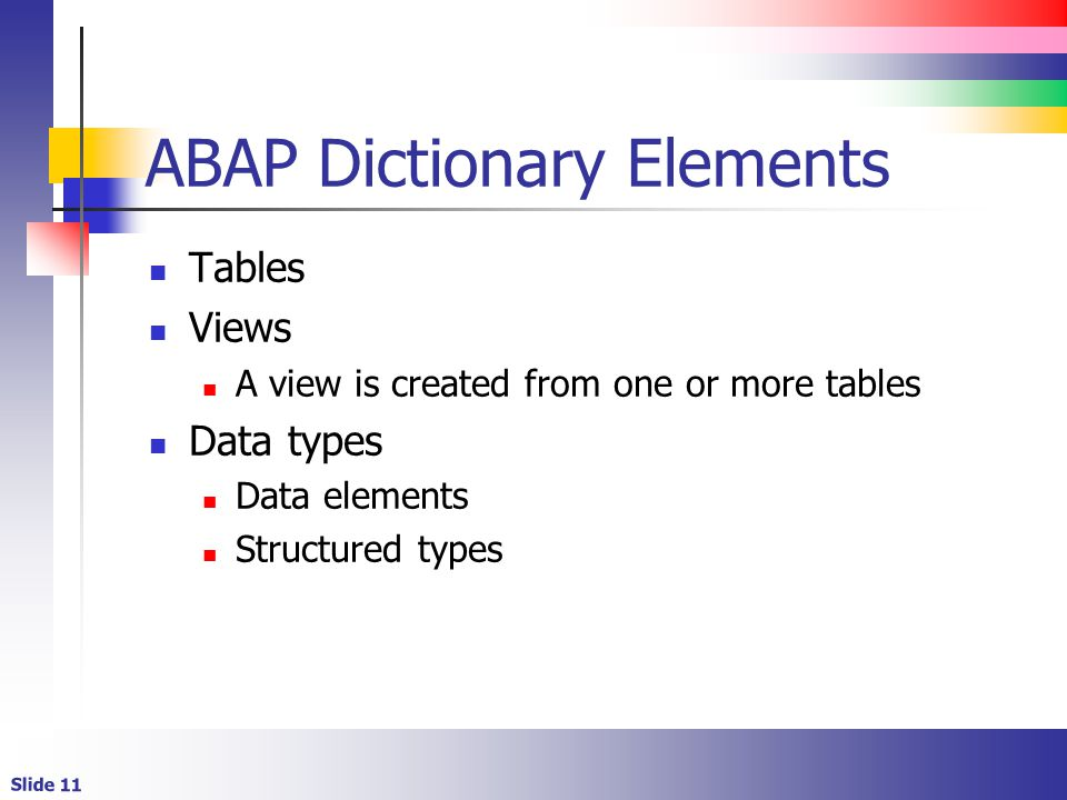 what is data dictionary in abap