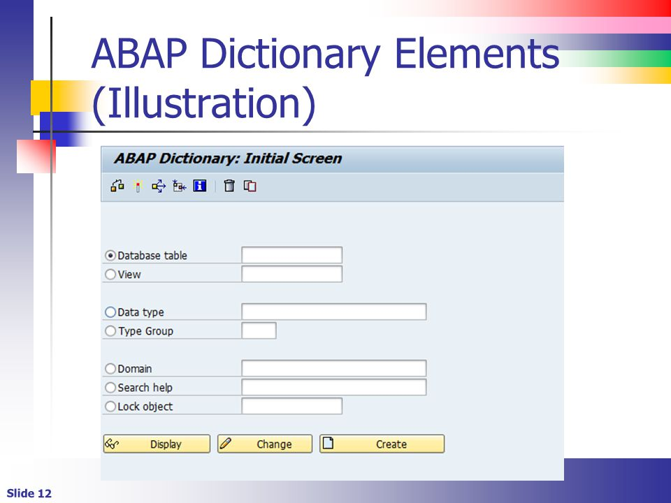 abap data dictionary You use the abap dictionary to create and manage data definitions (metadata) the abap dictionary permits a central description of all the data used in the.