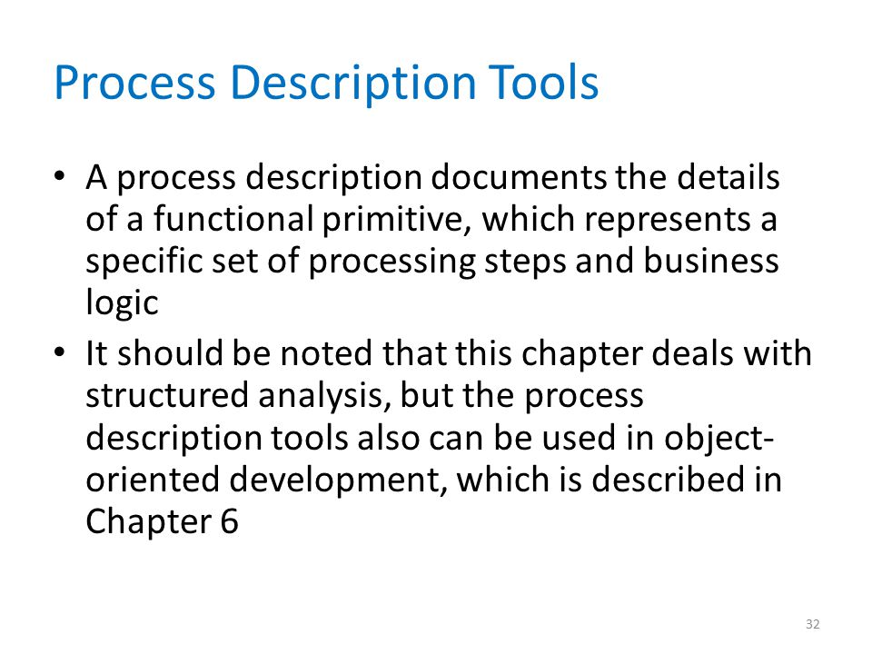 Process Description Tools