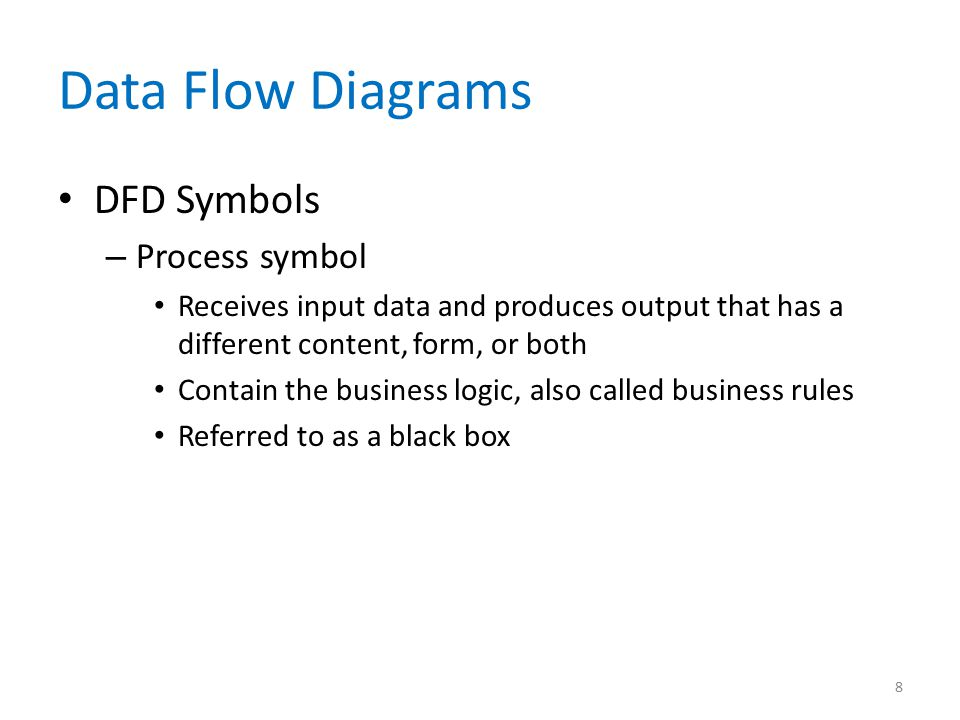 Data Flow Diagrams DFD Symbols Process symbol