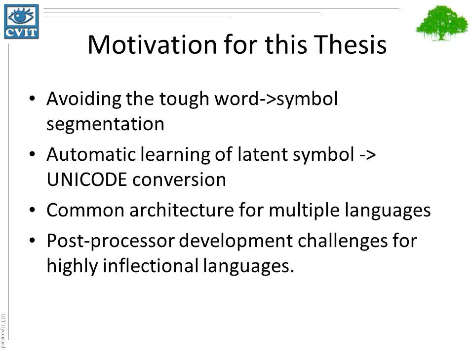 motivation thesis proposal