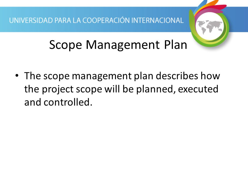 week 2 planning the project scope You can use this project plan template to define the project scope and identify major deliverables you can also use it to manage the project risks and constraints as.