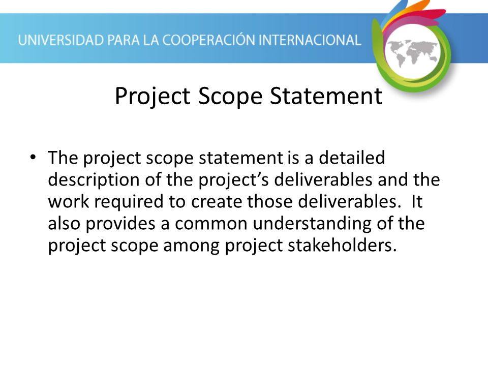 Project Scope Statement