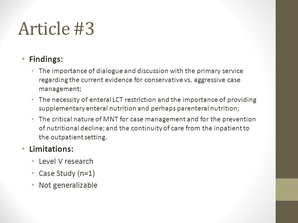 Food limitations study guide