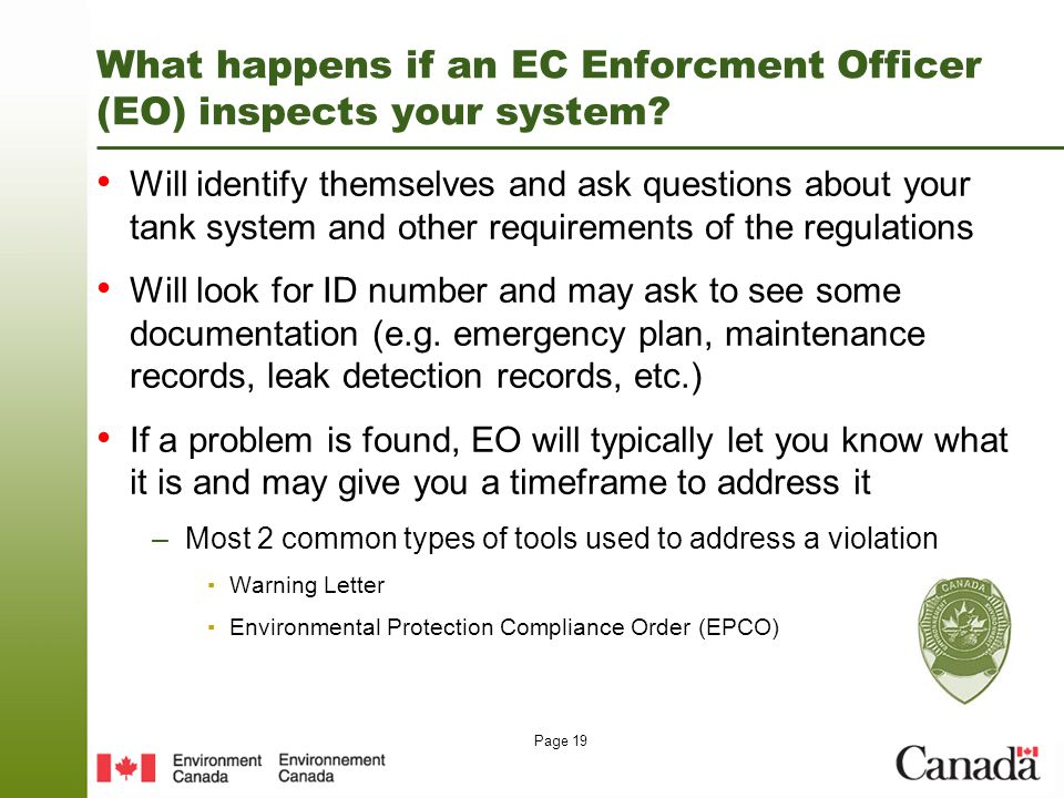 Waste programs environment canada ppt video online download - Compliance officer canada ...