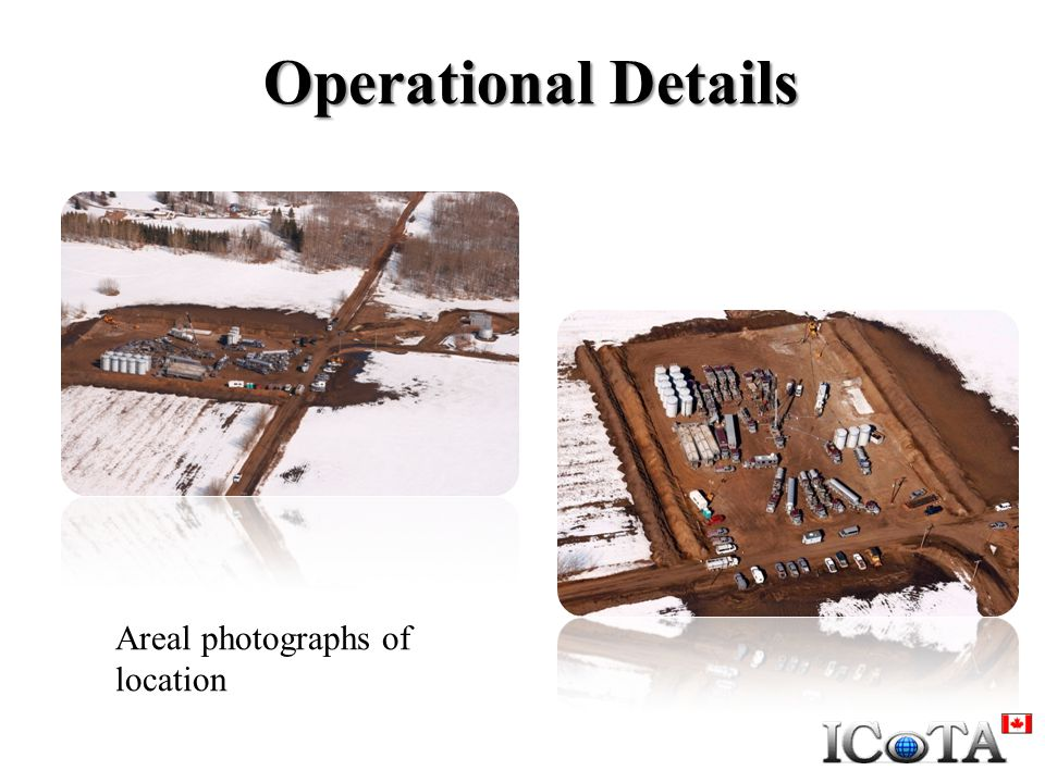 Operational Details Areal photographs of location