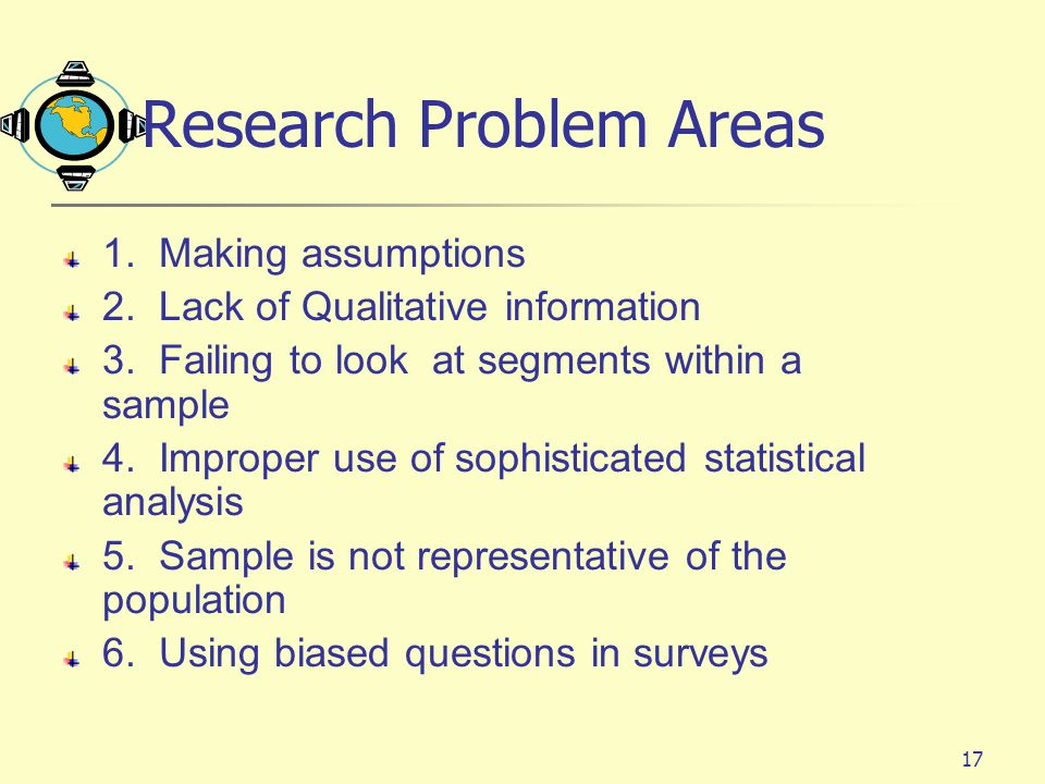 Research Problem Areas