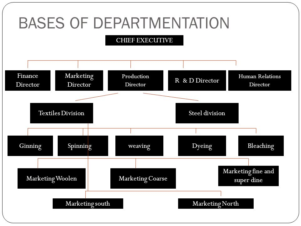 matrix departmentation Functional departmentalization defines departments by the functions  matrix  organization is a combination of two or more organization structures for  example.