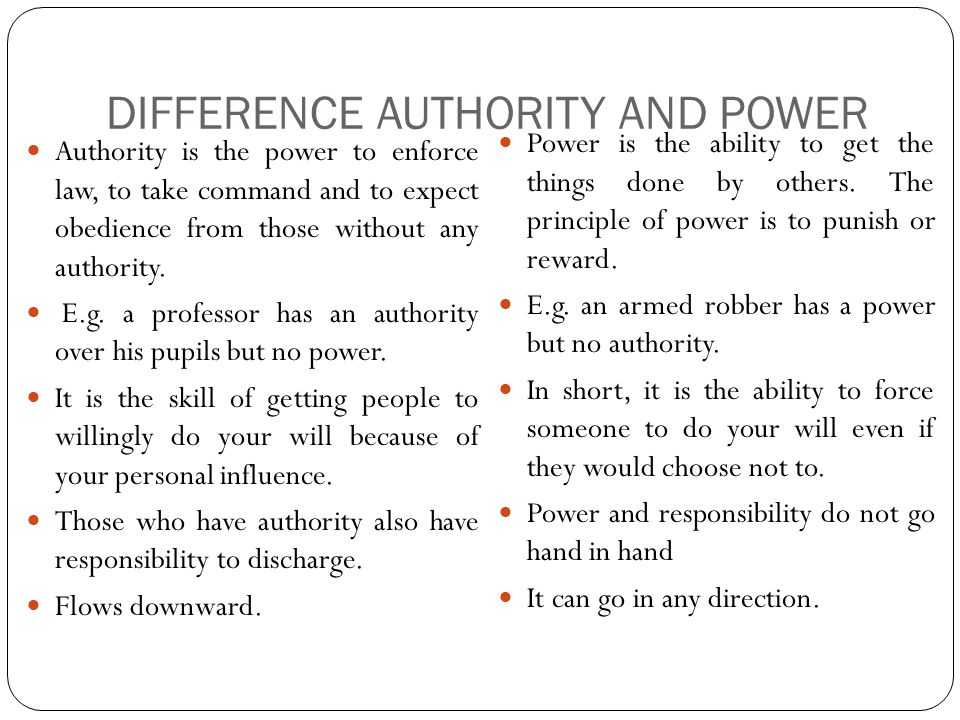 Difference between Power and Influence