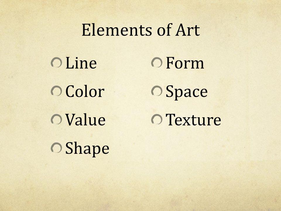 Line Color Form : Elements of art and principles design ppt video