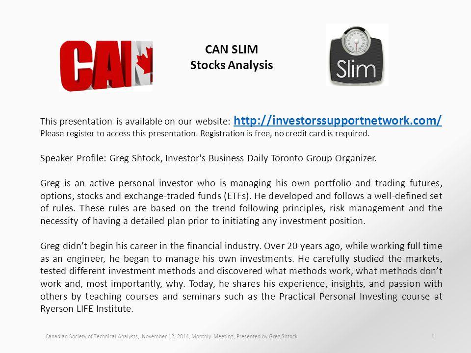 CAN SLIM Stocks Analysis