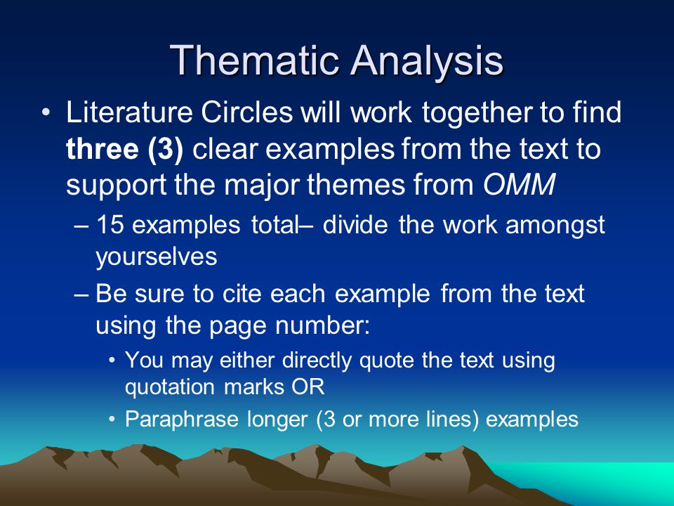 an analysis of three works of literature with major themes A huge list of common themes literature themes in literature are often varied and hidden sometimes you can get through an entire book and not realize what the author meant  work.