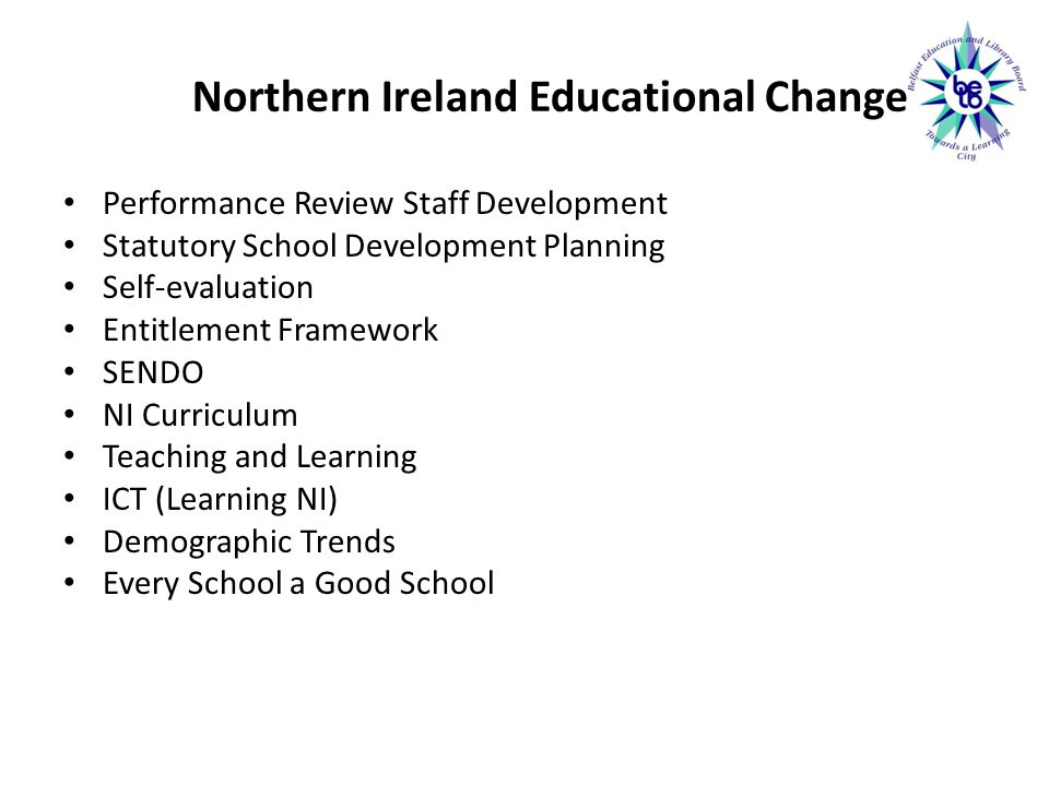 Northern Ireland Educational Change