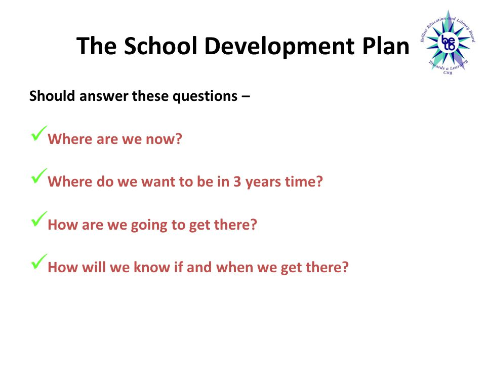 The School Development Plan