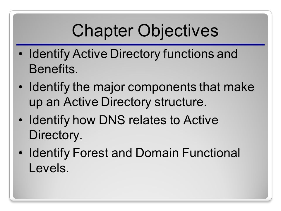 benefits of active directory I'm usually pretty good at explaining technical concepts to the non-technical but seem to come up short when explaining | 12 replies | active directory & gpo.