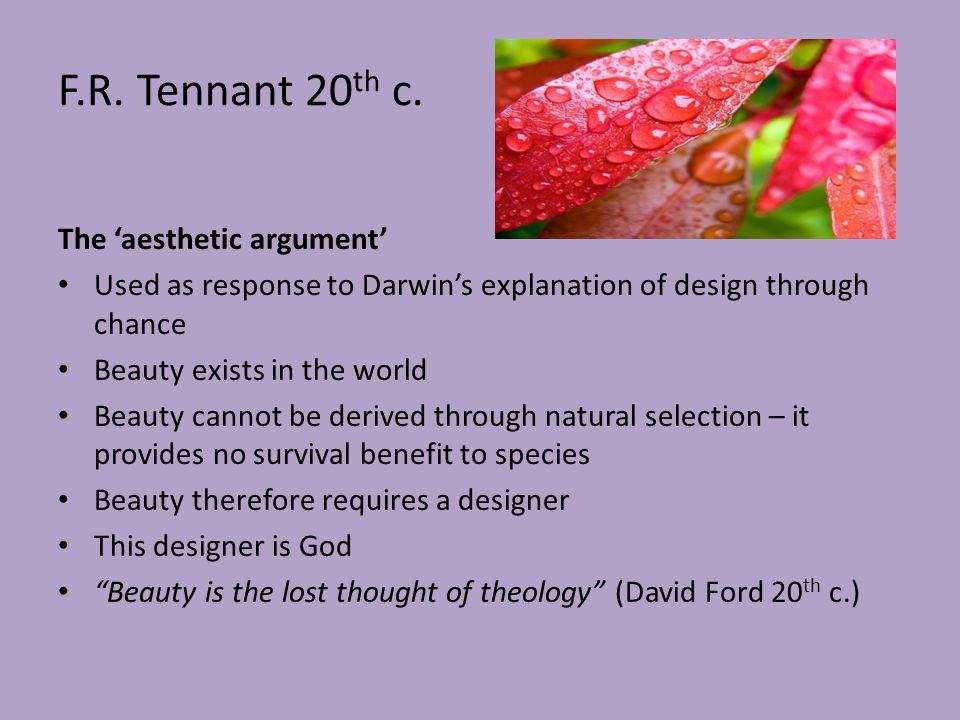 Argument and natural selection