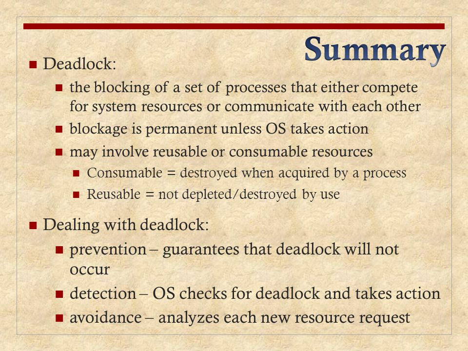 how to avoid deadlock in os