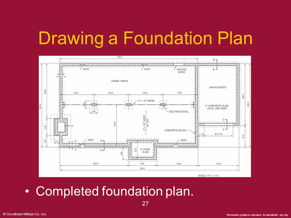Powerpoint presentation ppt video online download for Foundation plan drawing