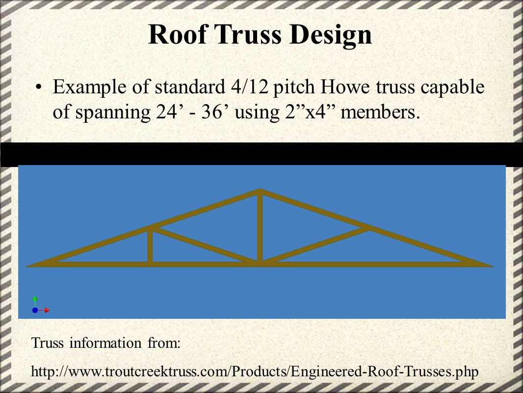 Preliminary design review ppt video online download for What is a 4 12 roof pitch