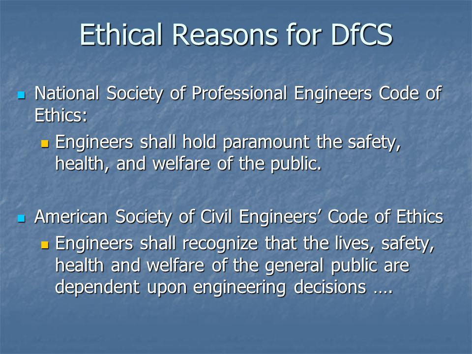Ethics in construction