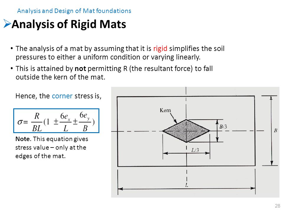 Analysis and Design of Mat foundations