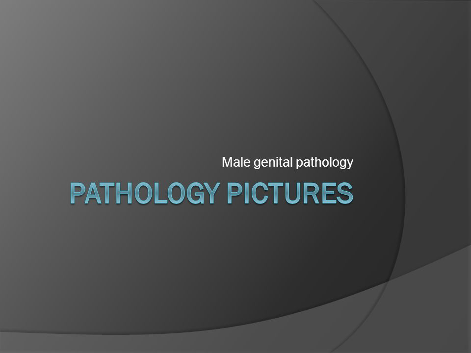 Male genital pathology