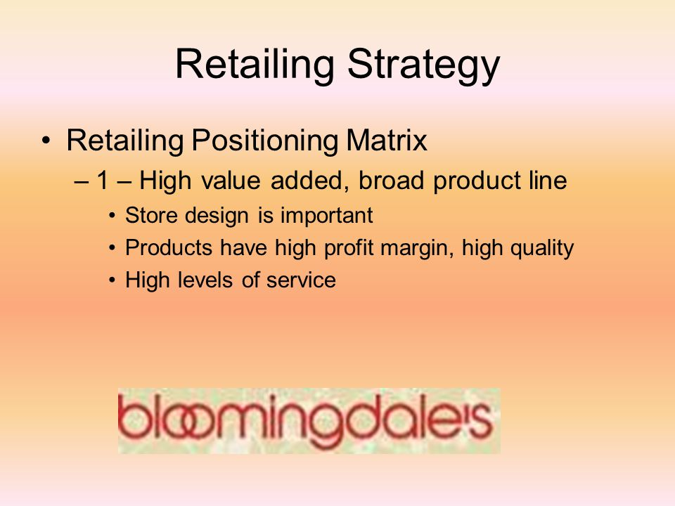 reeds supermarket strategic positioning She'd felt the same way at two other reeds  high-end in the supermarket business  the present case deals with the positioning efforts of reed supermarkets in.
