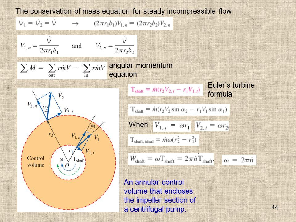 The conservation of mass equation for steady incompressible flow