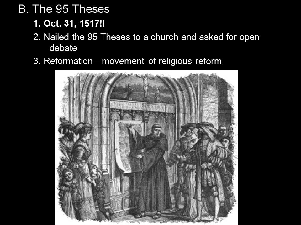 where were the 95 theses posted Luther's frustration with this practice led him to write the 95 theses, which were  quickly snapped up, translated from latin into german and distributed widely.