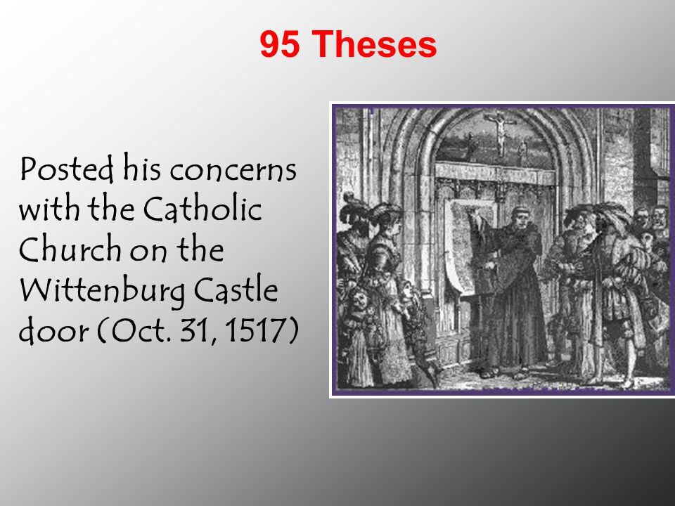 what was the 95 theses impact on the catholic church