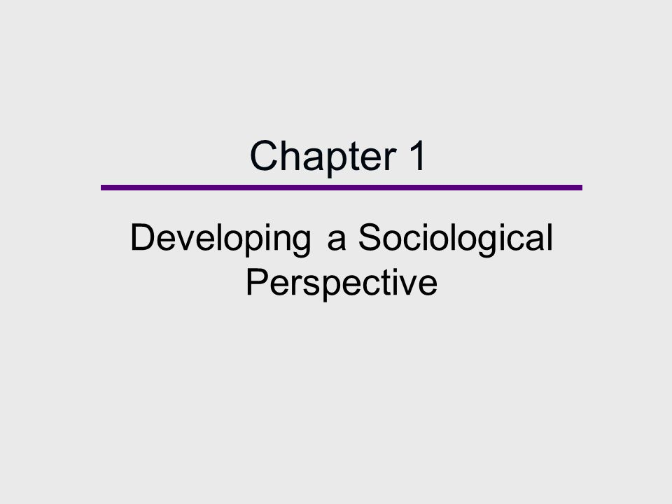 chapter 1 the sociological imagination