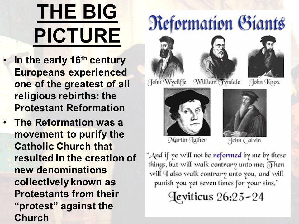An overview of the reformation of european catholic church in the 16th century