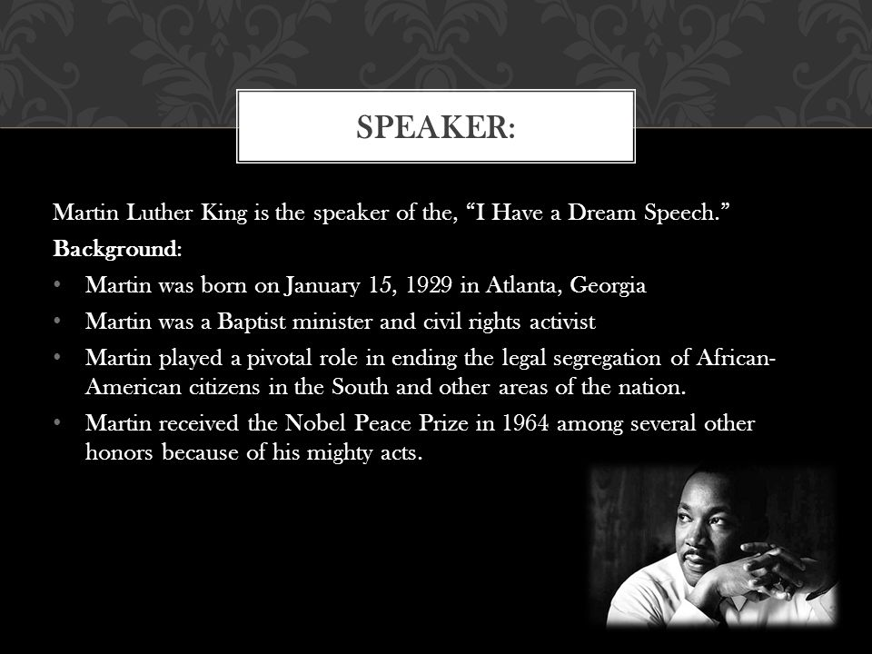 martin luther king jr i have a dream speech information