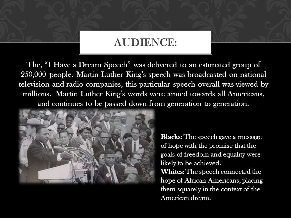 mlk speech purpose The martin luther king, jr memorial honors a man of conscience the  the  crusade for voting rights (his first speech at lincoln memorial,.