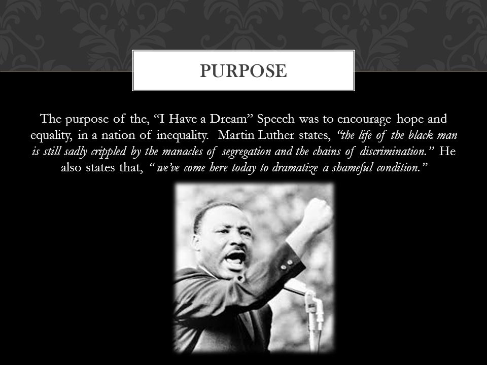 "an analysis of martin luther kings speech i have a dream ""i have a dream"" is perhaps the most famous speech delivered by martin luther king, jr like many of king's speeches and sermons, it contains numerous references to."