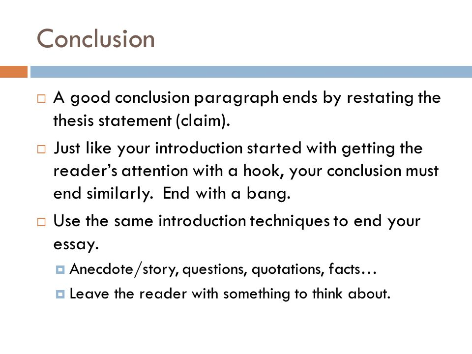 end essay conclusion