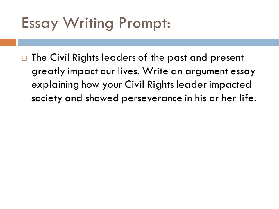 civil rights essay prompt