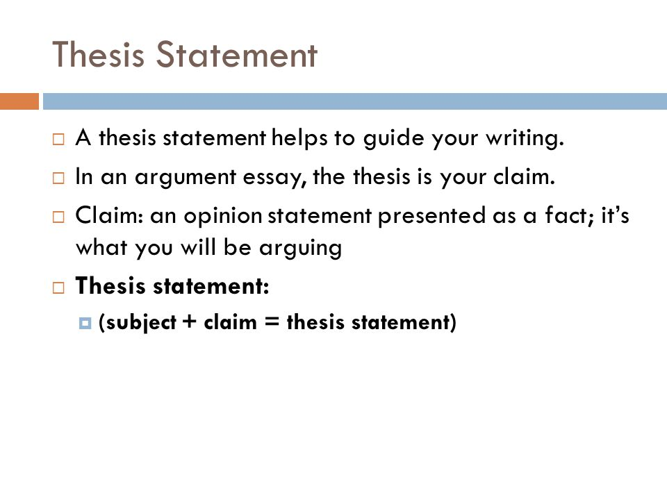 5 Thesis Statement ...