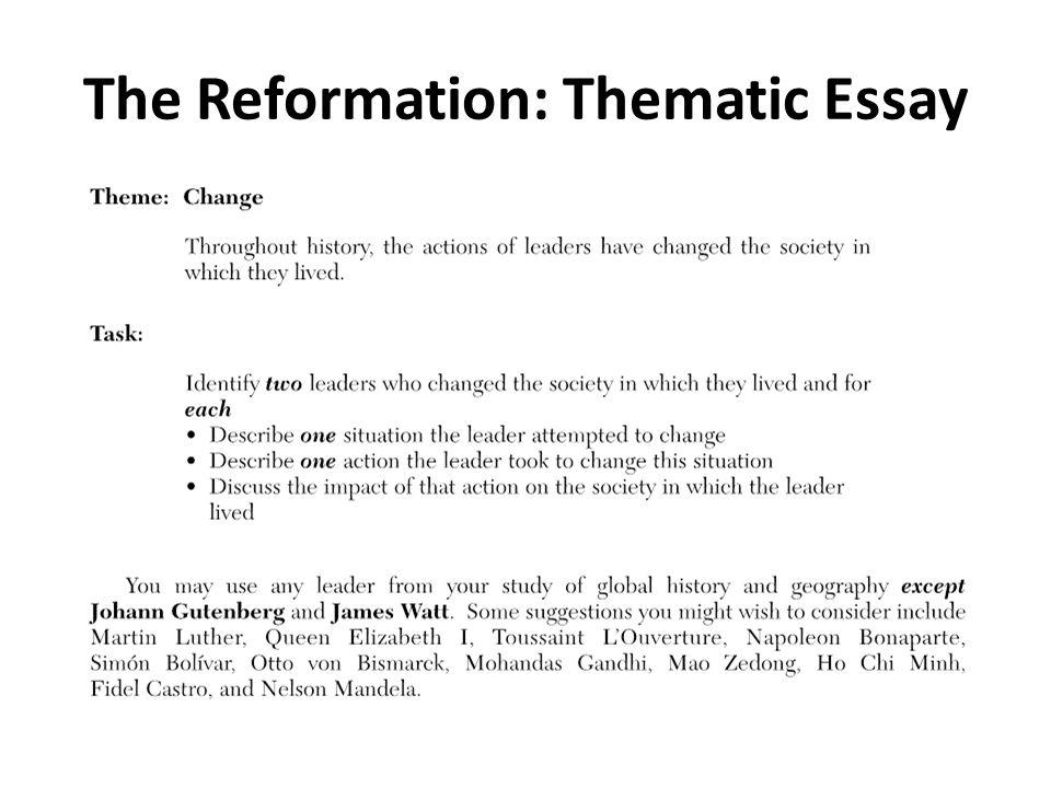 Global regents thematic essay help coursework academic service