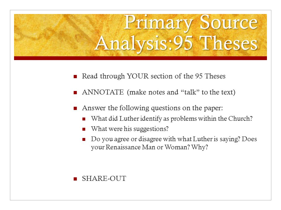 95 theses text Primary source analysis 95 theses excerpts the controversial text title: microsoft word - 95 theses discussiondoc author: melinda dolen created date.
