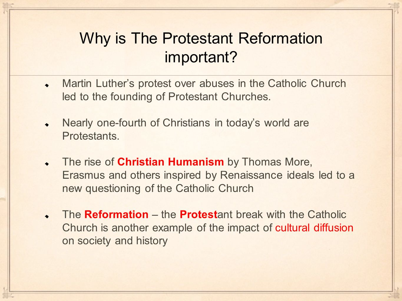 a history of the protestant reformation in the catholic church Ap european history: unit 21 historysagecom the reformation i the protestant reformation  catholic church and confiscate church lands for.