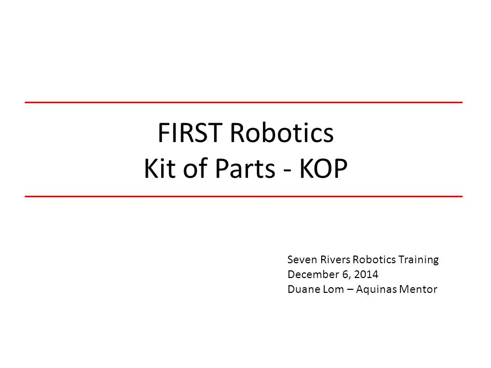 FIRST+Robotics+Kit+of+Parts+ +KOP first robotics kit of parts kop ppt video online download first robotics wiring diagram 2014 at couponss.co