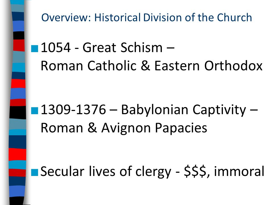 an analysis of the topic of the avignon papacy and the great schism Topic: using at least  discuss great schism and its eroding  evaluate the eroding effect in the confidence of the catholic church after the avignon papacy and.