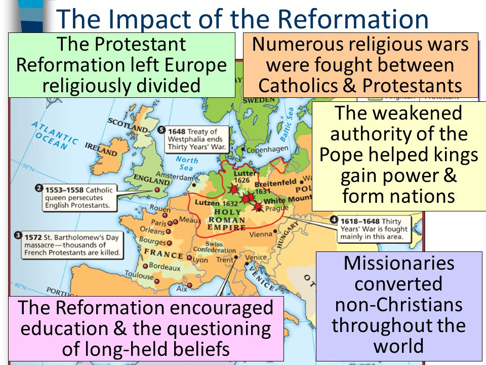 impact of the protestant reformation Education and schools one of the important cultural achievements of the reformation was the implementation of many of the educational reforms of humanism into the.