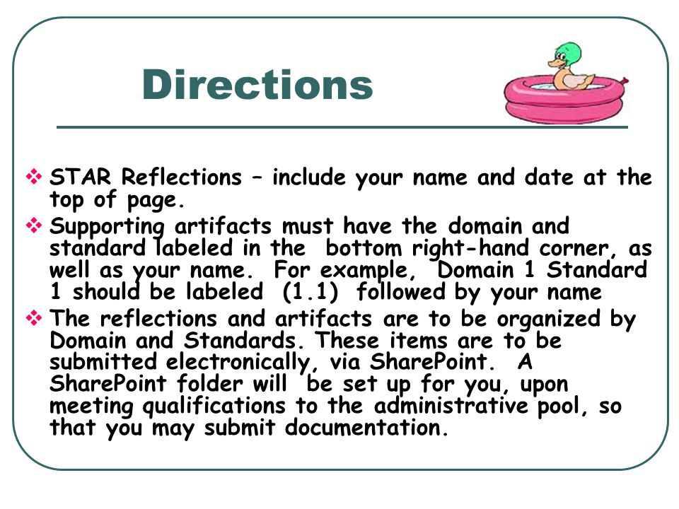 Directions STAR Reflections – include your name and date at the top of page.