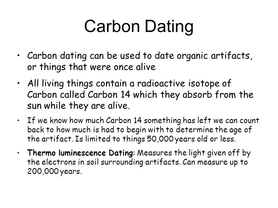 How do they use carbon dating