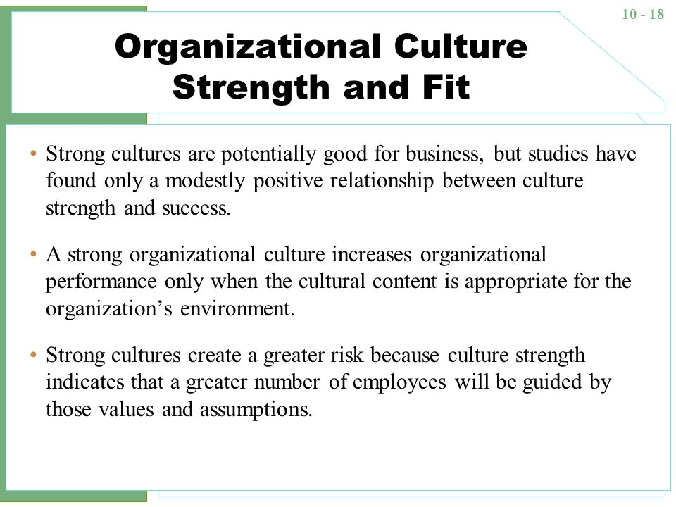 relationship between organizational culture and performance essay Organizational culture and national culture: what's the difference and why does it matter print email based on the research of dr geert hofstede, there are differences between national and organizational cultures.